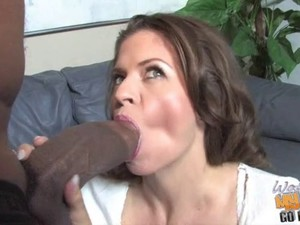 Cum hungry white mother go black while son is watching
